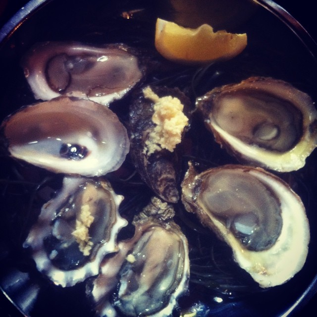 Oysters for lunch!! I think this was my first time having raw oysters and I am hooked! #paleo #raw #foodie #nomnom #yum #delicious